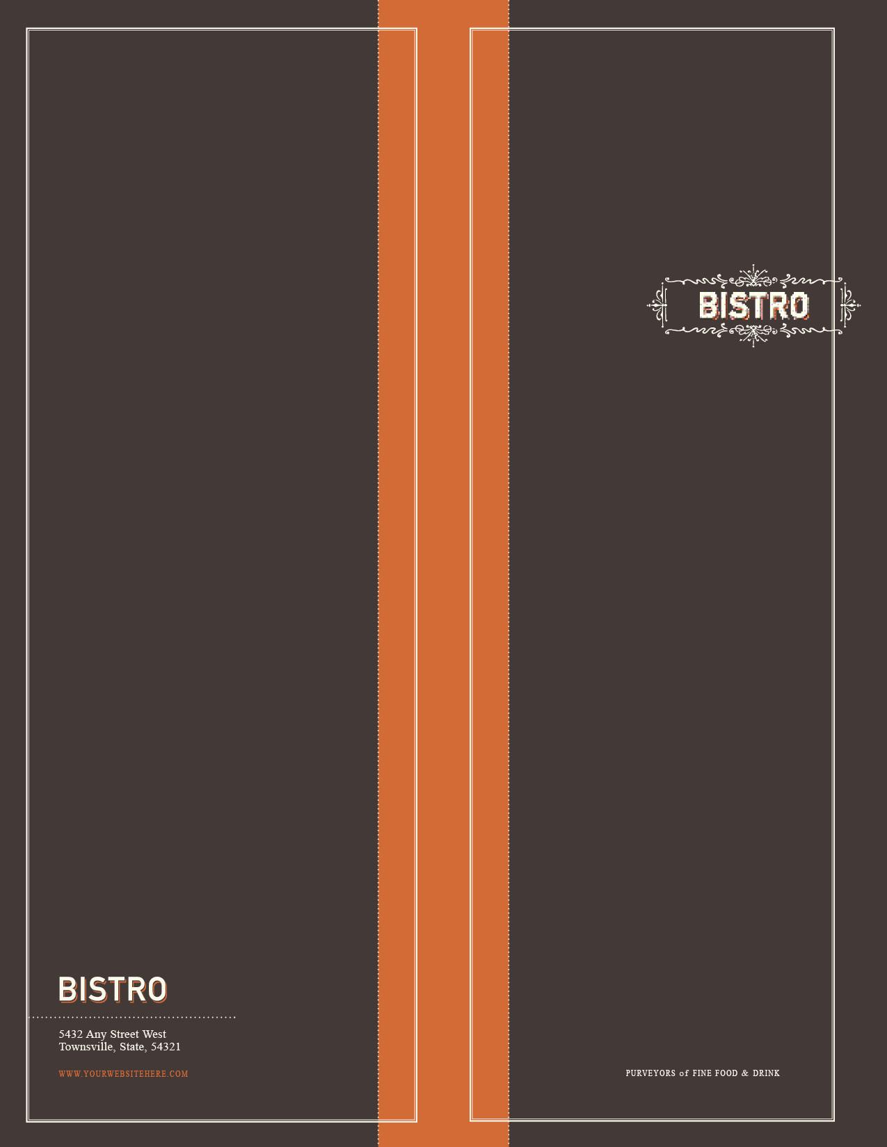 customizable every door direct mail template 10305 for food beverage bistro restaurant. Black Bedroom Furniture Sets. Home Design Ideas